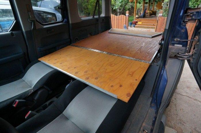 Do It Yourself Home Design: Platform Sleeping In Car