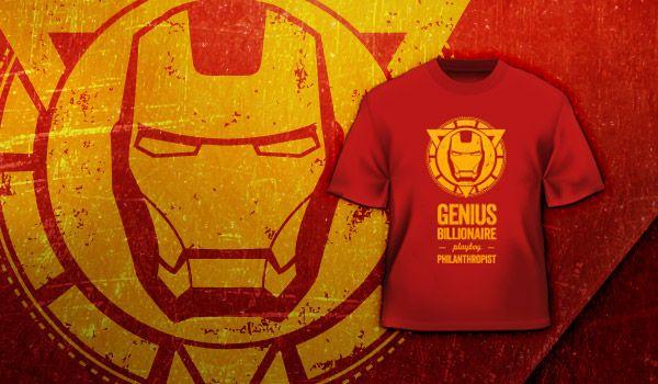 Camiseta Iron Man Jovem Nerd Nerd Camiseta Iron Man Man