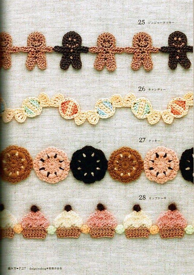 mini crochet gingerbread garland | tejido | Pinterest | Crochet ...