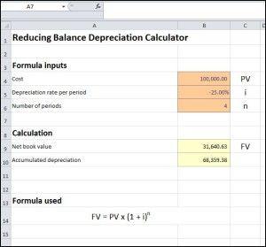 Reducing Balance Depreciation Calculator Calculators Pinterest