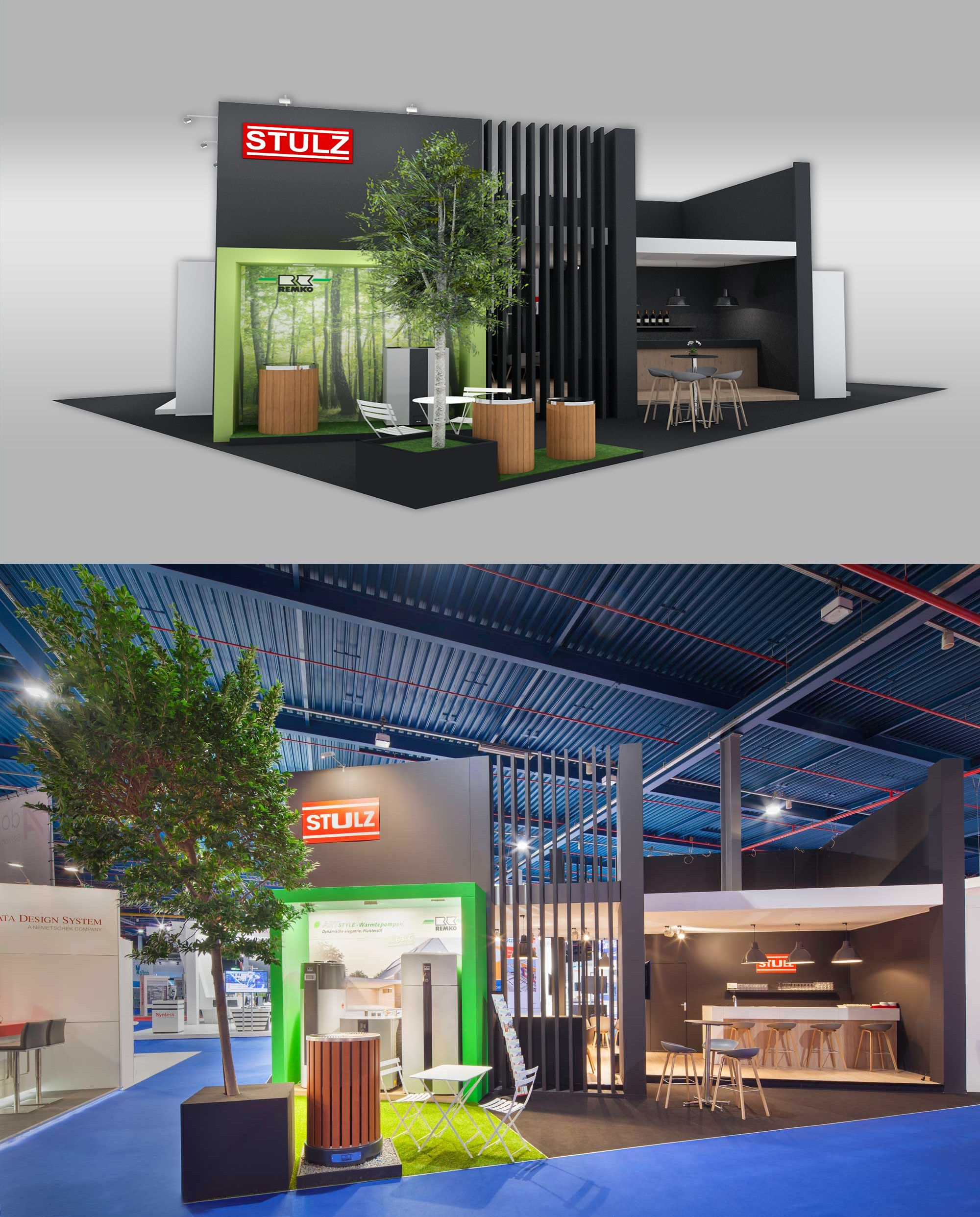 Exhibition Stand Installation : Exhibition stand design from the inside building at
