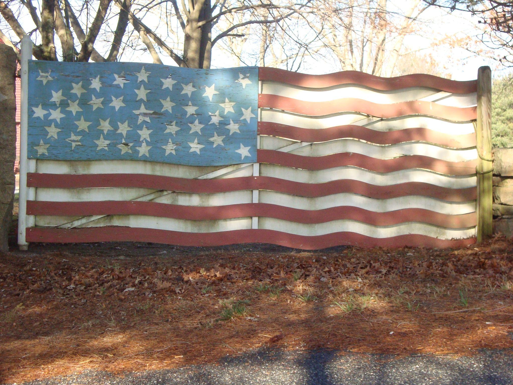 American Flag Gate American Flag Gate Flag