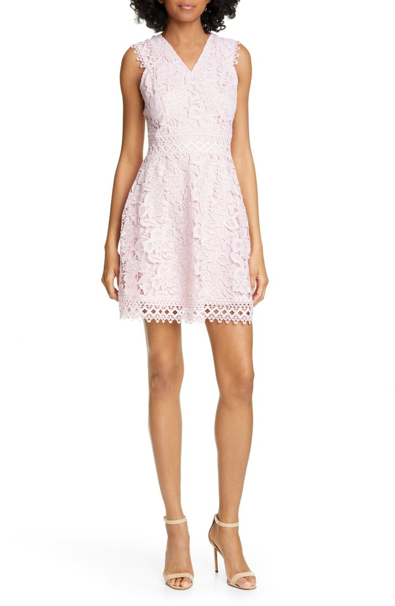 0ea8a62710e Free shipping and returns on Ted Baker London Beniel Fit   Flare Lace Party  Dress at