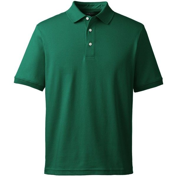 6f55e81bb80 Lands  End Men s Tall Short Sleeve Supima Polo Shirt ( 23) ❤ liked on  Polyvore featuring men s fashion