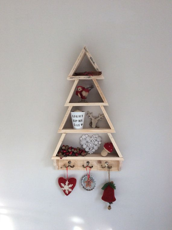 large wood christmas tree pallet christmas tree wall mounted tree handmade xmas tree rustic recycled reclaimed wood storage shelving childs