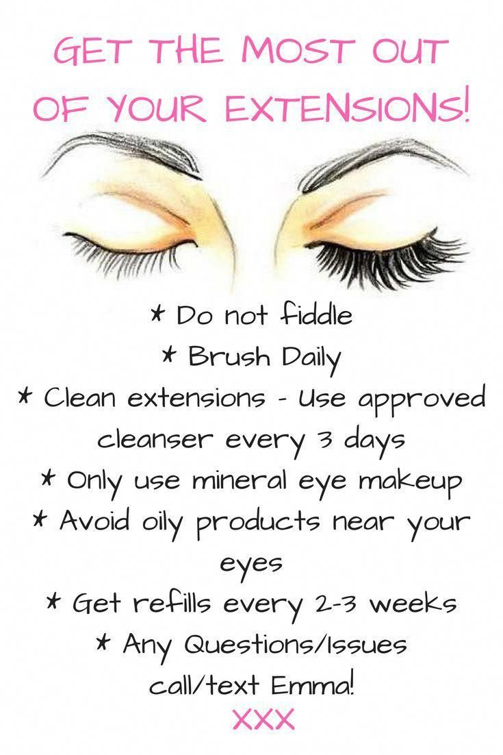 How to take care of lash extensions lashes