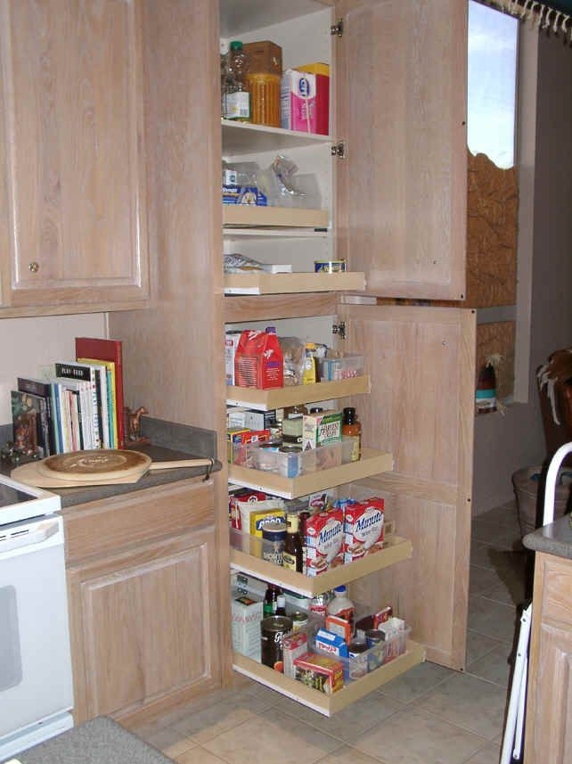 Pull Out Shelves For Kitchen Cabinets Click To Enlarge Pantry Cabinet Slide