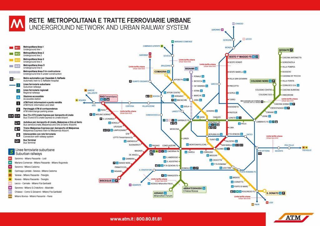 Subway Map Milan Subway Map Metro Map Transit Map