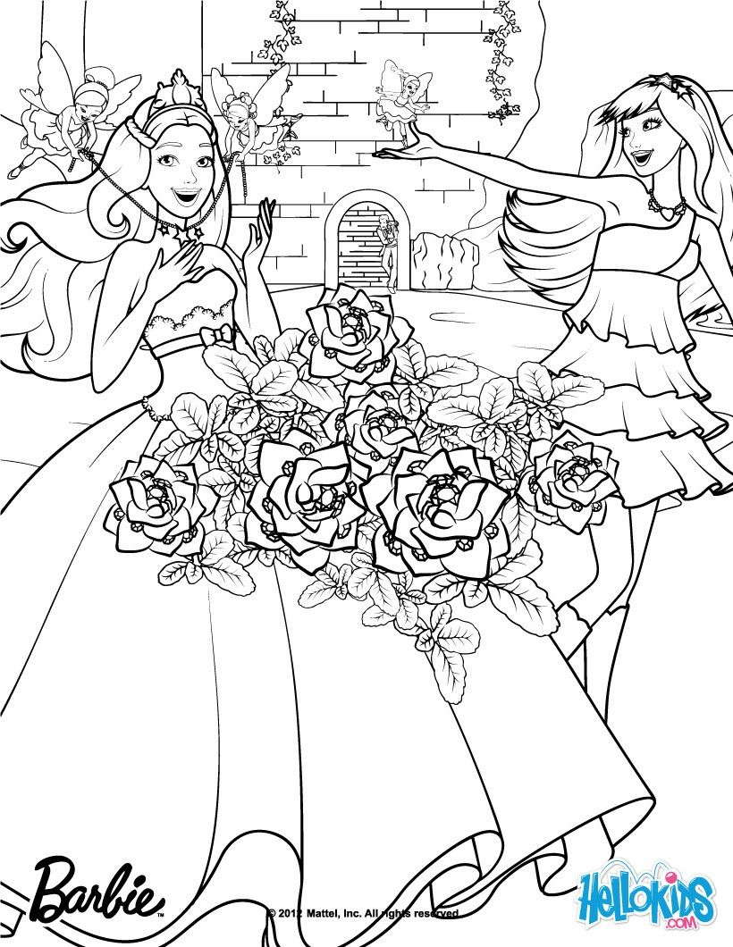 Keira and Tori transformation coloring page More Barbie