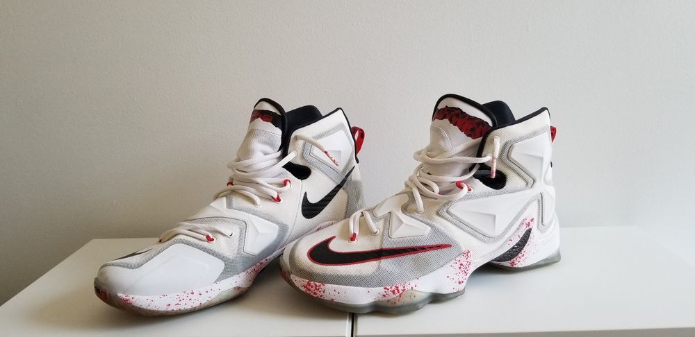 08ec8fb9da9 ... denmark nike lebron xiii 13 friday the 13th blood splatter 807219 106  new ds size 11