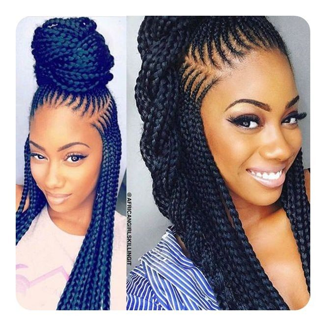 Protective Styling Braided Hairstyles Hair Styles Natural Hair Styles
