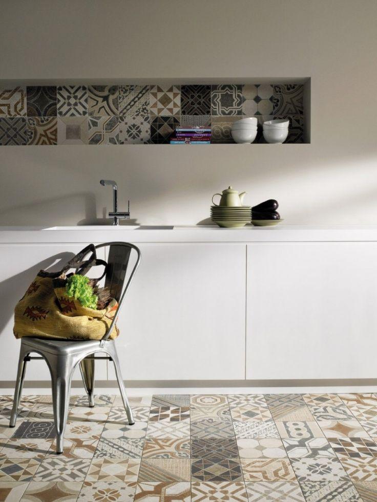 Carreaux De Ciments Pour Une Déco Originale Et Colorée Deco - Sol cuisine carreaux ciment pour idees de deco de cuisine