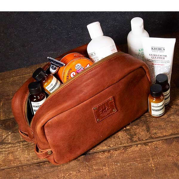 WILL Leather Goods Grady Leather Travel Kit