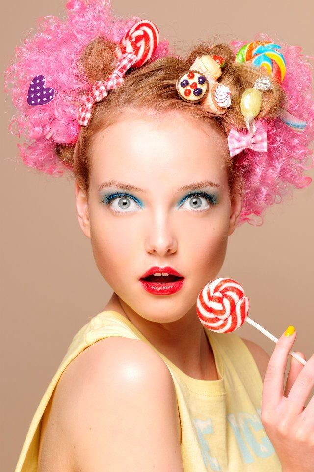 N I A Candy Hair Makeup Clown Candyland
