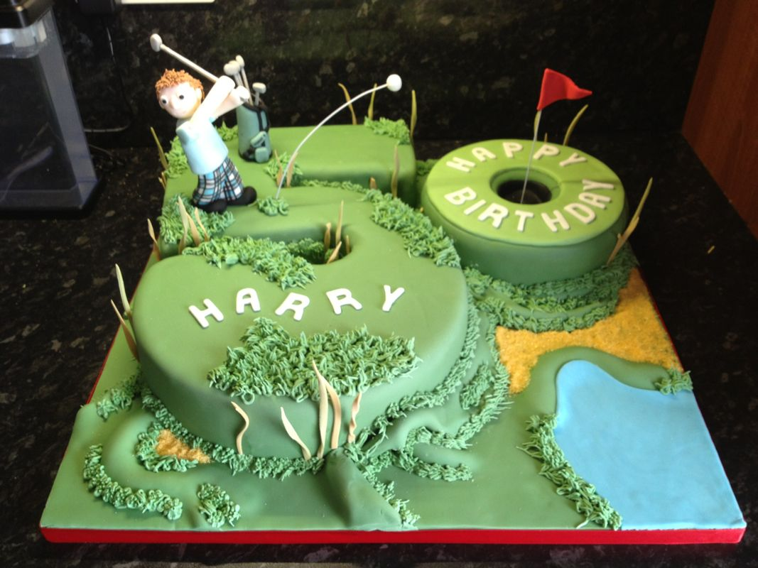 Golfing Birthday Cake Ideas