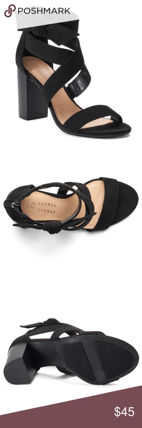 LC Lauren Conrad Girlfriend Womens High Heel Sandals