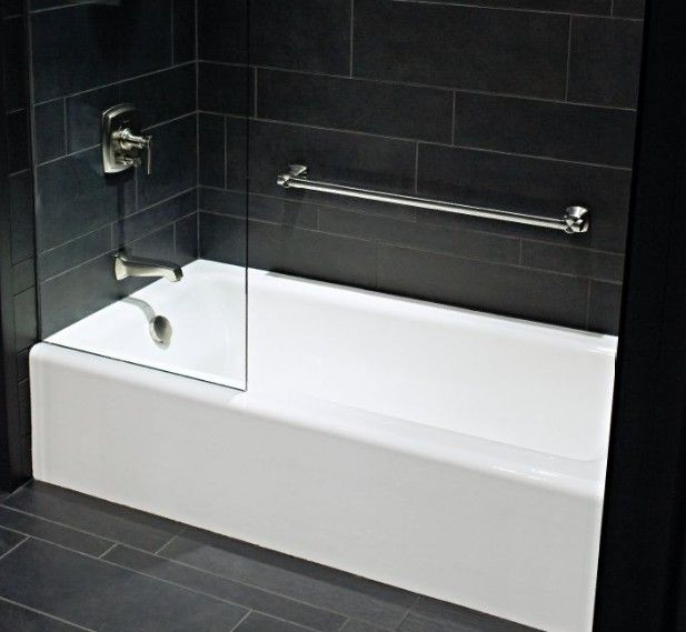Alcove Bathtubs Pictures | 60 X 32 X 15 1/2 Kohler Bellwether Cast Iron  Bath With Integral .