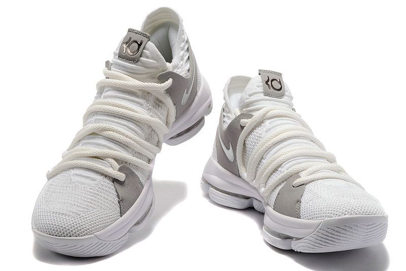 7fc6be914b23 Nike KD 10 X LMTD EP White Flyknit Factory Authentic