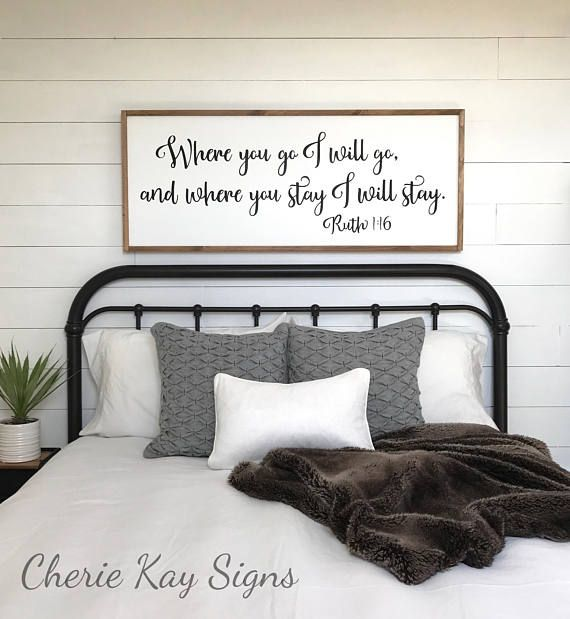 Bedroom Sign Where You Go I Will Go Master Bedroom Decor