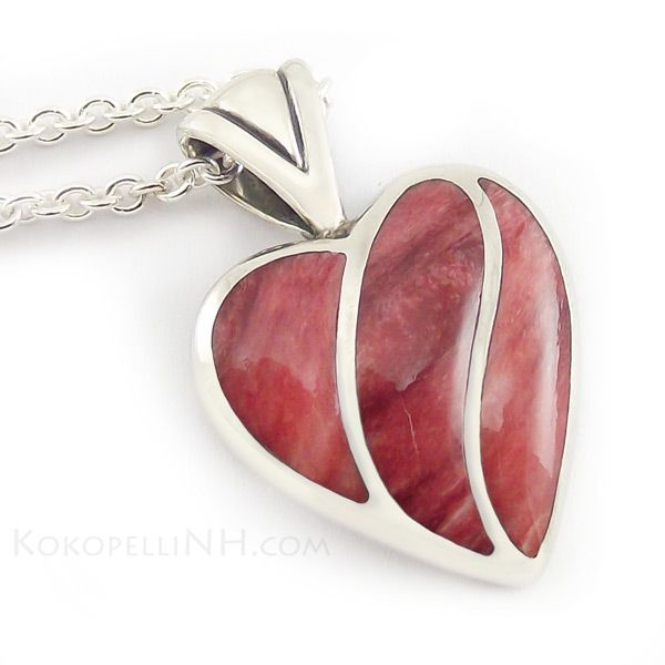Red Heart Necklace by Kabana - Necklaces - Kokopelli of NH