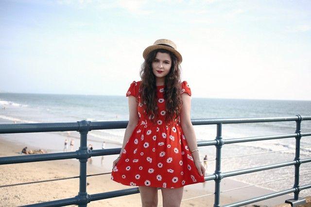 This Santa Monica Pier #ootd has us dreaming of summer!