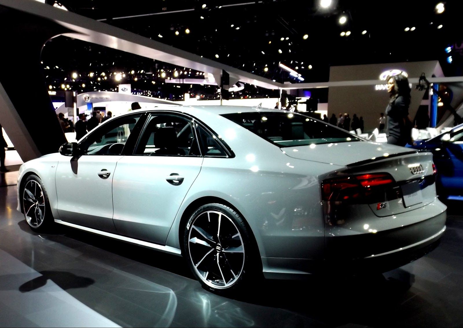 Audi s8 plus eye candy at 2015 los angeles auto show