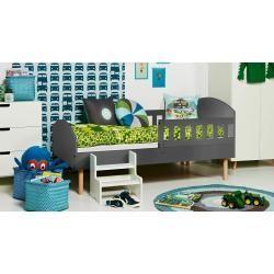 Photo of Sprimont 13 cot / youth bed, color: gray / oak – 90 x 200 cm (W x L) Steinersteiner – bingefashion.com/dekor
