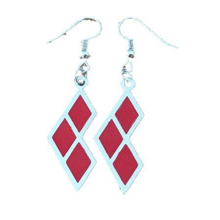 Jewelry Gift Boxes Walmart Delectable Dangle Earrings Dc Harley Quinn Diamonds Logo In Gift Box Inspiration