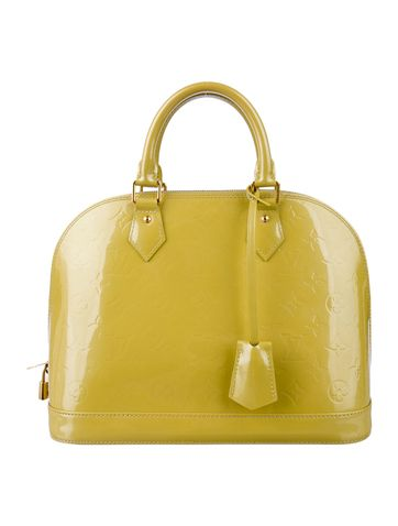 52bbed66aaa4 Louis Vuitton Vernis Alma PM Bag in lime green.
