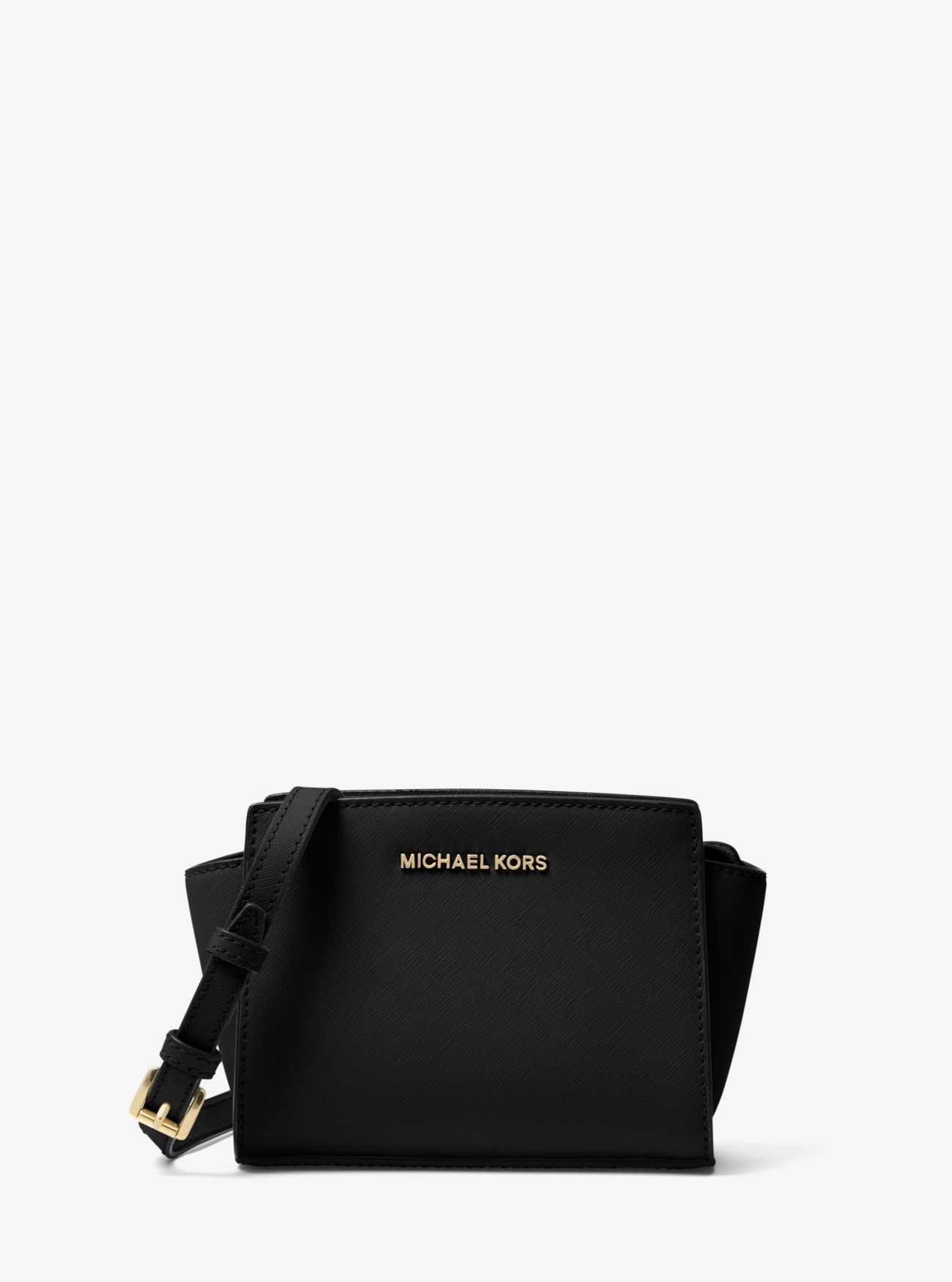 156a1302e607e Price Michael Kors Black Selma Mini Saffiano Leather Crossbody Outlet Sale