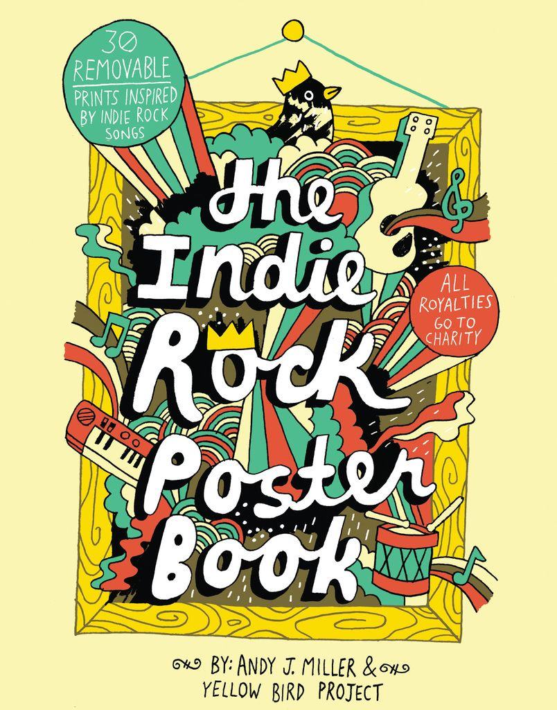 From The Authors Of Popular Indie Rock Coloring Book This Poster Is A Colorful Celebration Music And Art