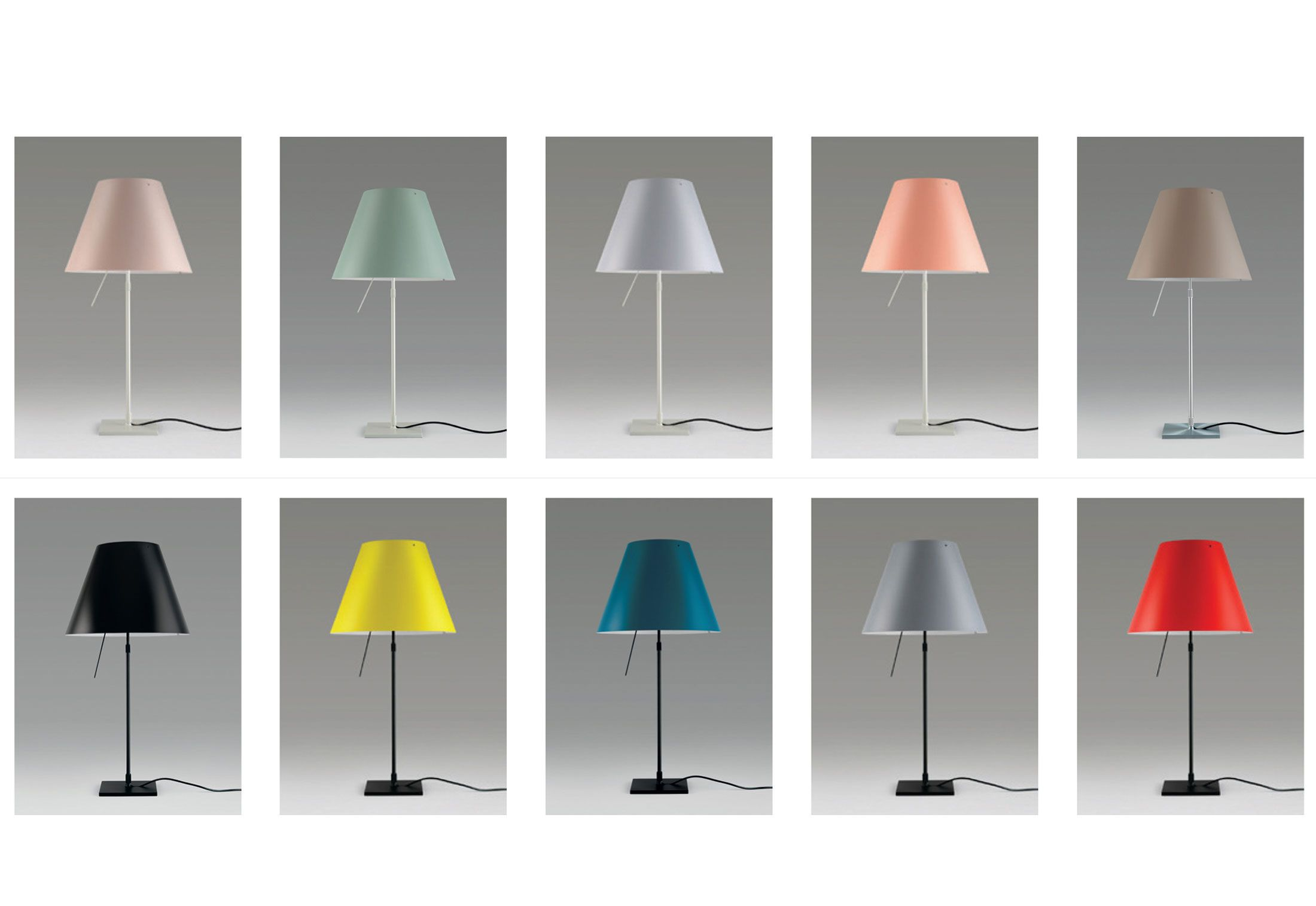 Bright Colored Table Lamps Luceplan Costanza Table Lamp New Pastel Colors