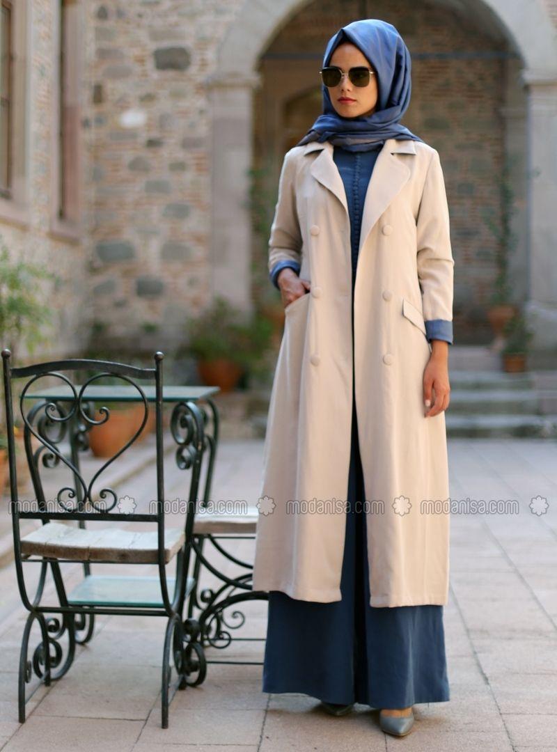 lorella jacket beige mevra new winter hijab style. Black Bedroom Furniture Sets. Home Design Ideas