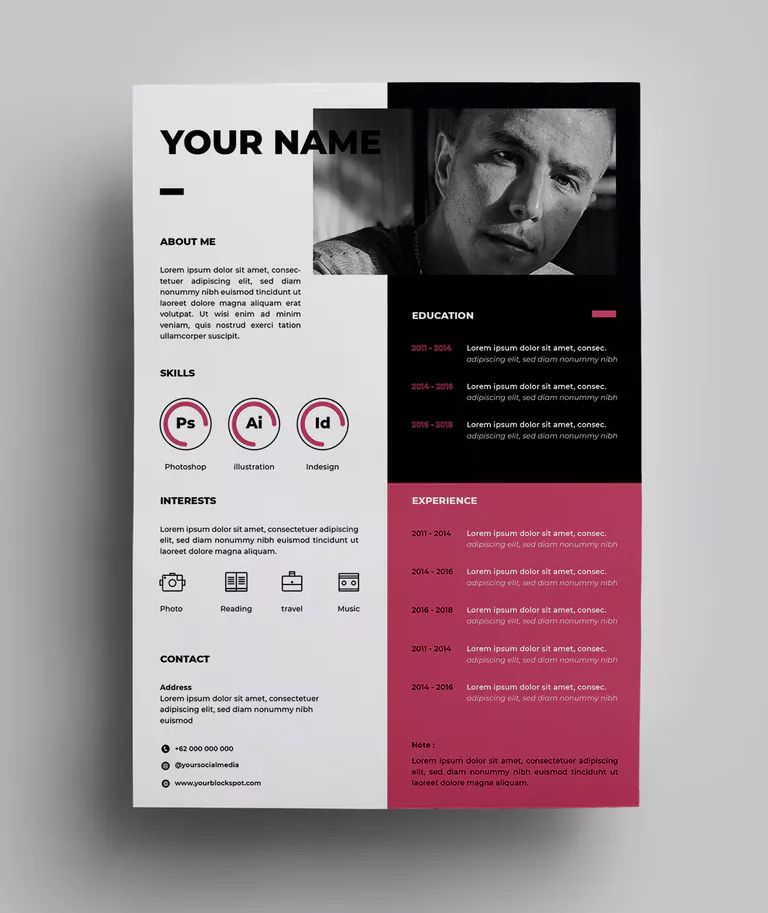 Resume Design Templates 03 By Surotype On Envato Elements Resume Design Template Resume Design Creative Resume Design