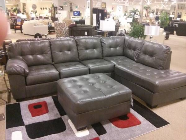 Alliston Grey Sectional Only 887, Atlantic Furniture Buffalo