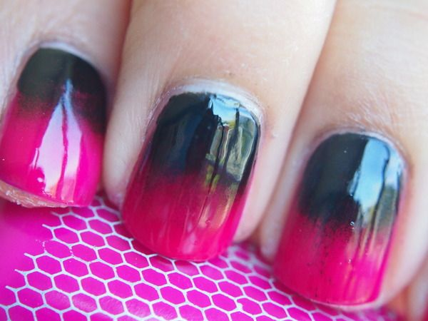 ♥Reverse Gradient Nails