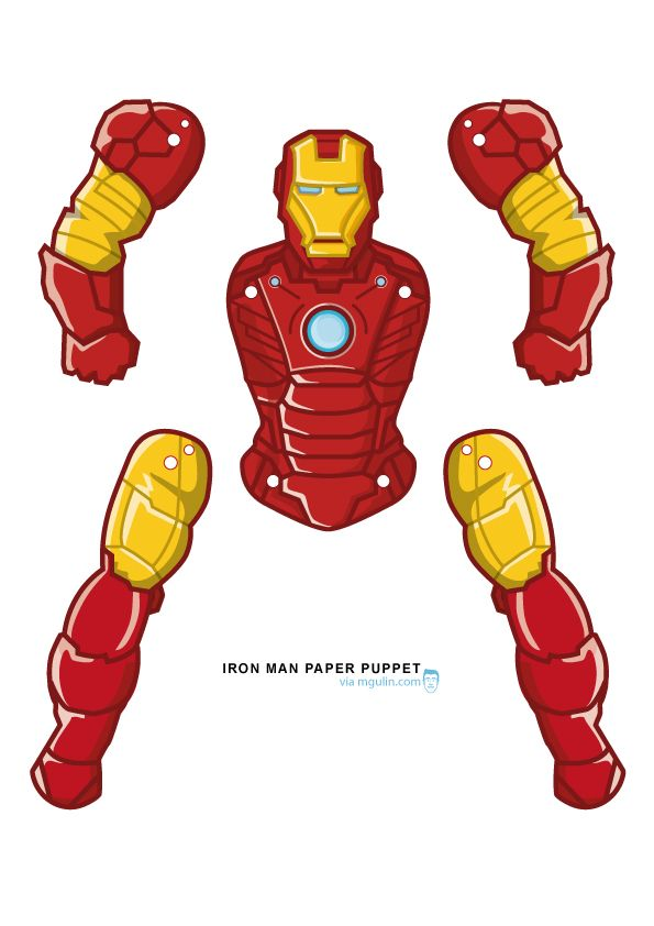 image relating to Iron Man Printable called Iron Guy Paper Puppet - Absolutely free Printable Sport and Craft