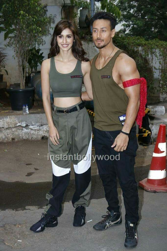 Tiger Shroff And Disha Patani For Baaghi 2 Promotion Indian Bollywood Actors Handsome Celebrities Bollywood Actors