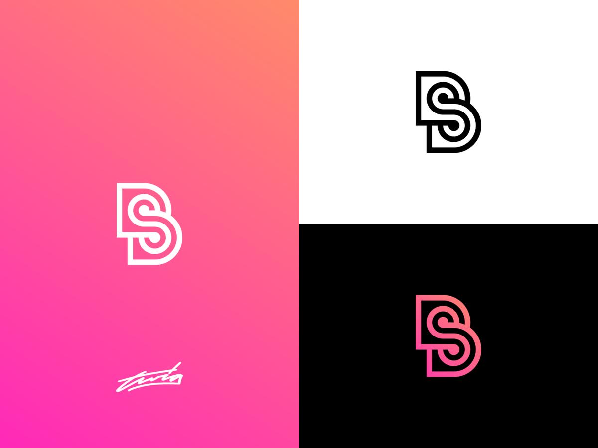 Bs Monogram Logo Concept Monogram Logo Logo Concept Monogram Logo Design