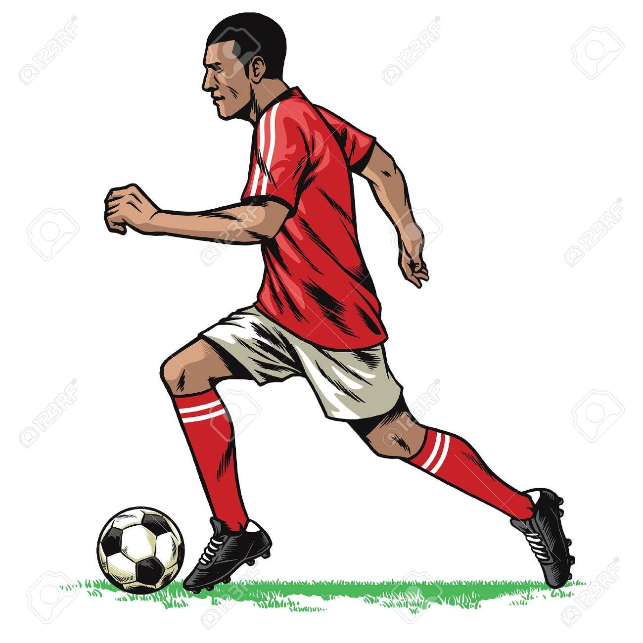 Hand Drawing Of Soccer Player Running While Dribble The Ball Sponsored Soccer Drawing Hand Player Ball How To Draw Hands Soccer Players Superhero