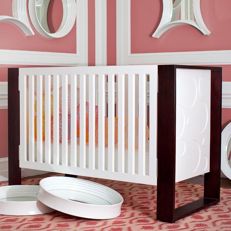 modern crib | Nurseryworks Aerial Crib in Snow & Dark Frame w ...
