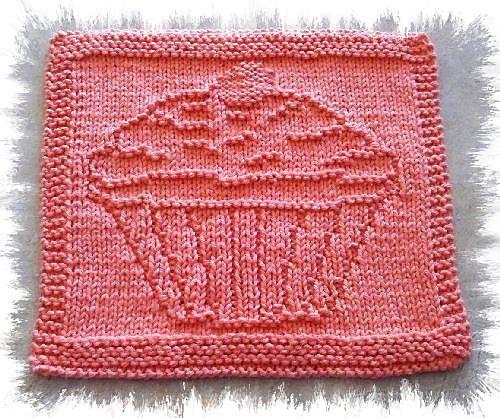 Cupcake pattern by Knitwits Heaven | Dishcloth knitting ...