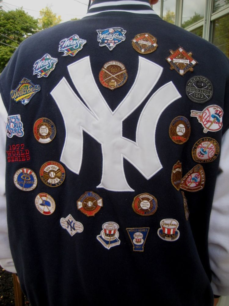 New York Yankees 27 Time World Series Championship Jacket Size Extra