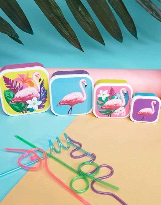 Paperchase Flamingo Snack Boxes