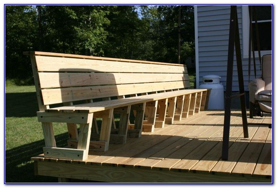 Deck Bench Seating Ideas yard ideas Pinterest Decking