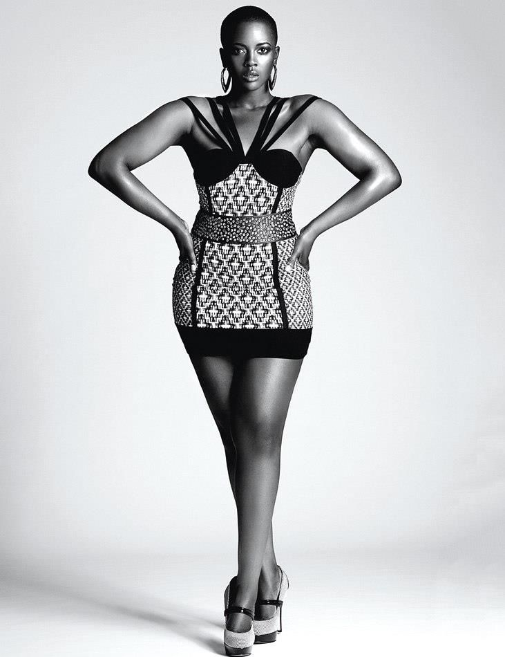 Britain\'s First Black Plus Size Model! What on her is PLUS size ...