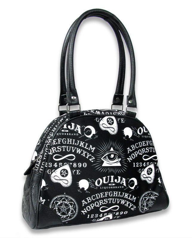 Banned Apparel Lucky 13 Black Cats Broken Mirrors Shoulder Bag w//Shoulder Strap