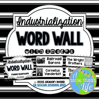 Industrialization Word Wall Without Definitions Black And White