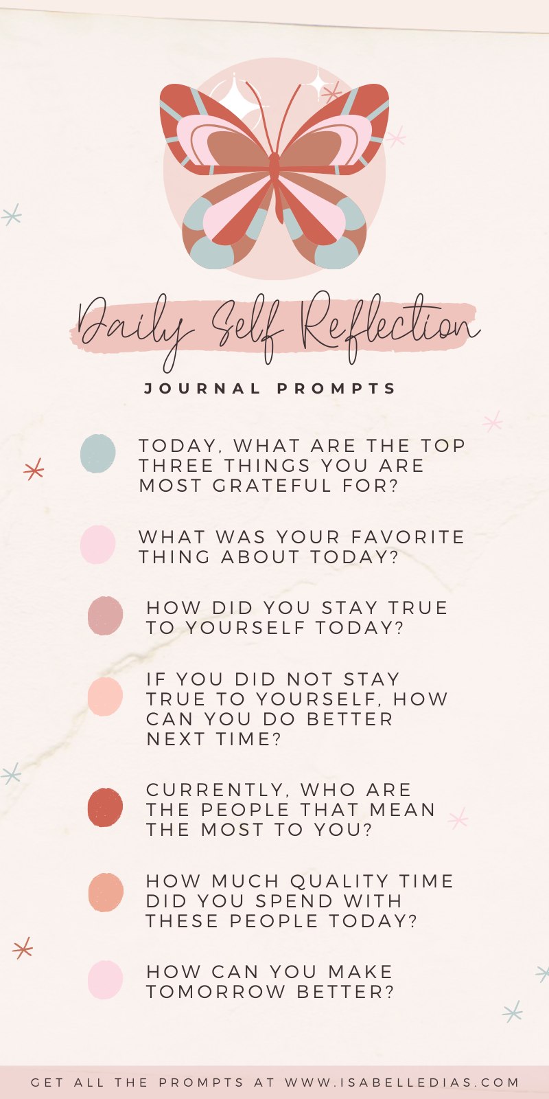 Looking for ways to find yourself? Let me share with you my daily journal prompts for self reflection and self exploration! Some of my favorite self discovery questions!