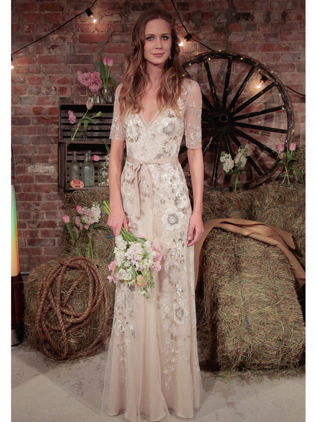 Unkonventionelle Brautkleider | Halblange Ärmel, Halblang und Hippie ...